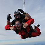 Tandem Skydiver Katherine And Instructor Phil White