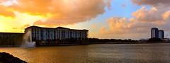 Marriott Vilas At Doral Sunset. Panorama. Nikon D3100. DSC_0097-0104.