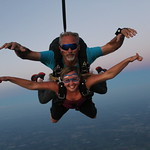 Freefall With Jennifer & Art At Sunset