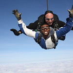Tandem Instructor Rick Sales His Student Victor In Freefall