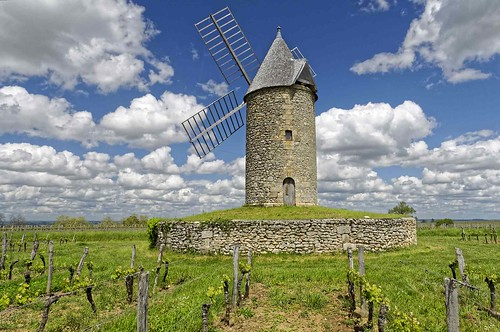 Gironde: Branne - Moulin de Lugaignac