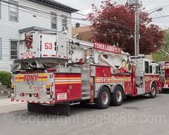 FDNY Tower Ladder 53 Fire Truck, City Island, New York City