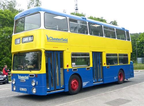 NNU124M 'Chesterfield Transport' No. 124 Daimler Fleetline / Roe on Dennis Basford's 'railsroadsrunways.blogspot.co.uk'