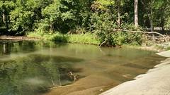 Creek flows