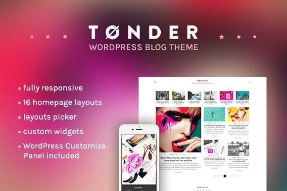 T-nder v1.0 - WordPress Blog Theme