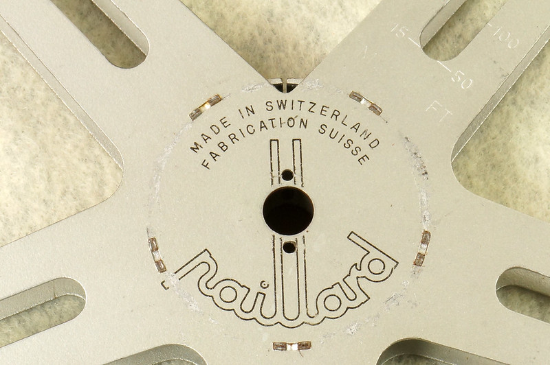 RD15726 4 Vintage Paillard Aluminum Flilm Cans and Reels Made in Switzerland DSC00240