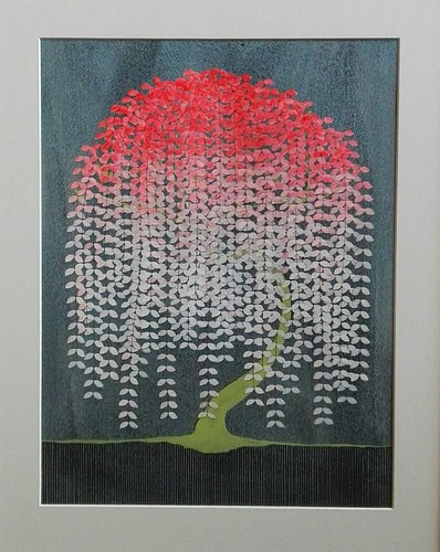 Pink and white tree by Catherine Cazalet at Norfolk by Design's Houghton Hall exhibition