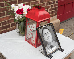 FDNY Firefighter William Tolley [Ladder 135] Memorial at Firehouse Engine 325 and Ladder 163, Woodside, New York City