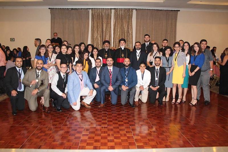 Mar Gewargis group shot at the 2016 National Youth Conference in San Jose, California