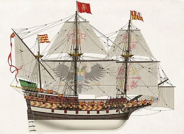 Landstrom Santiago de Compostela Galleon circa 1550-1600