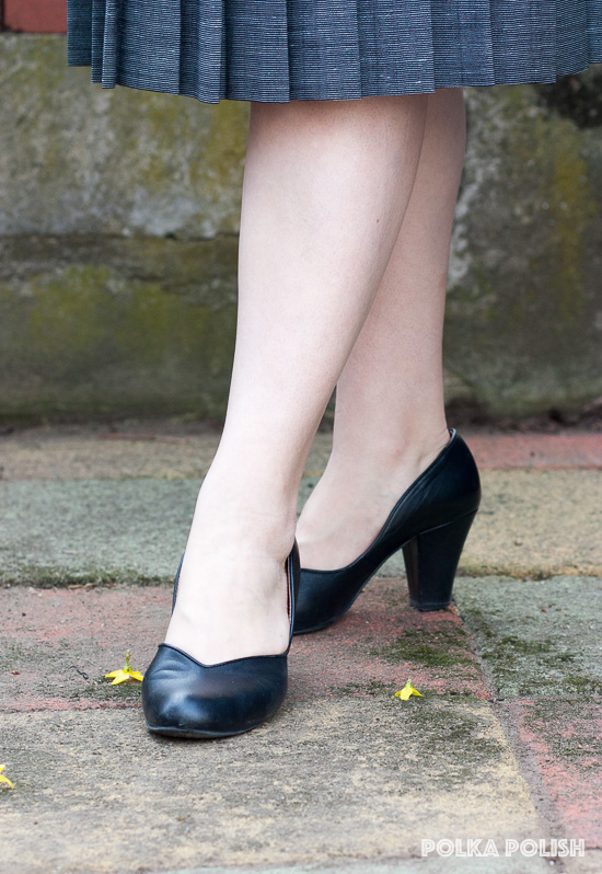 Royal Vintage Shoes Marilyn pumps in black leather