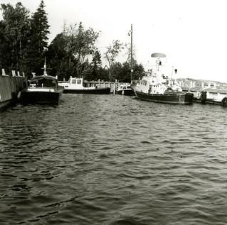 Boistön merivartioaseman laituri vuonna 1979