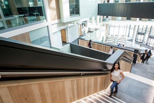Bristol Business School staircase