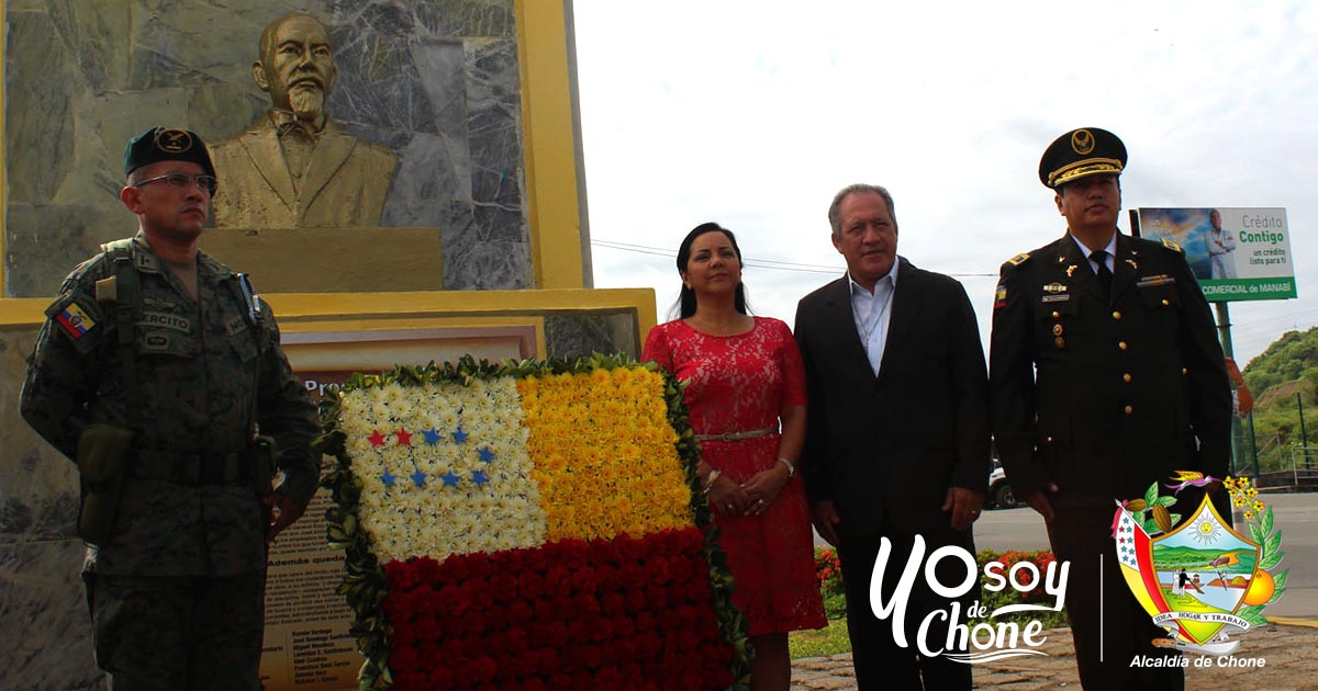 En Chone se efectuó conmemorativa celebración cívica por Proclama Liberal