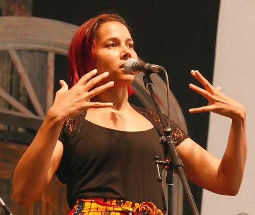 Rhiannon Giddens on Day 5 of Jazz Fest - May 5, 2017. Photo by Black Mold.