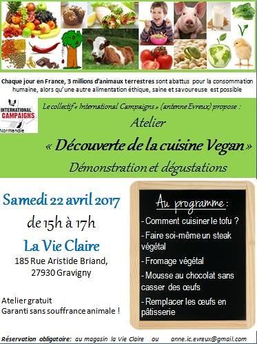Atelier Découverte de la cuisine Vegan IC Evreux  (1)