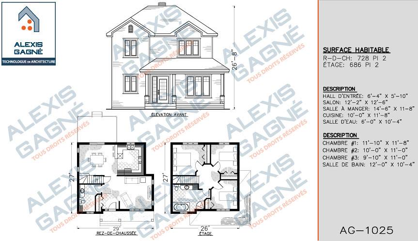 Maison 2 etage victoriaville alexis gagn for Dessiner plan maison facile