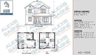 Plan de maison 2 étages - MM2e.02