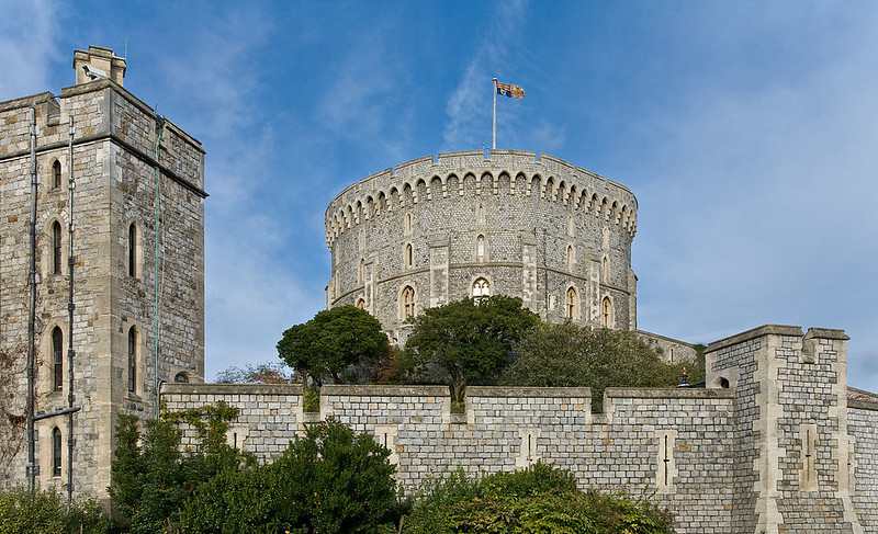 The Round Tower, one of the earliest parts of the Windsor Castle