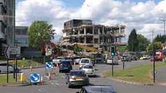 Demolition of the old Powergen building in Shirley
