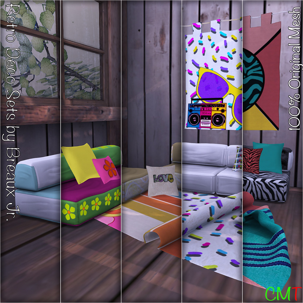 Retro Deco Sets by Breaux Jr. - SecondLifeHub.com