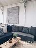lounge robuuste salontafel stoere oud houten wandpaneel