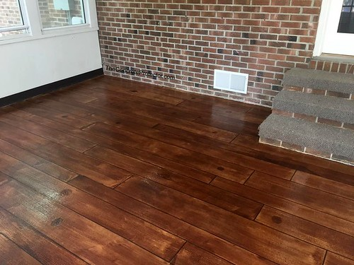 Concrete Wood Patio- Raleigh, NC