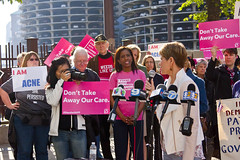 Kelly Mazeski Candidate for Congress 6th District of Illinois  Protesting Trumpcare Chicago 5-11-17 6277