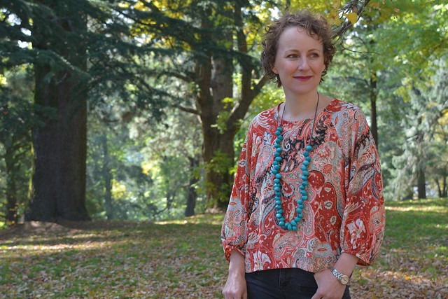 Pattern Fantastique's Aeolian Tee with modified sleeves