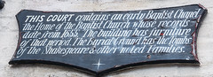 Photo of William Shakespeare black plaque
