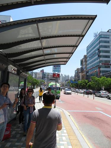 下端駅のバス乗り場