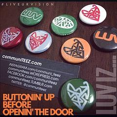 LUV iz... BUTTONin' up BEFORE opening the door