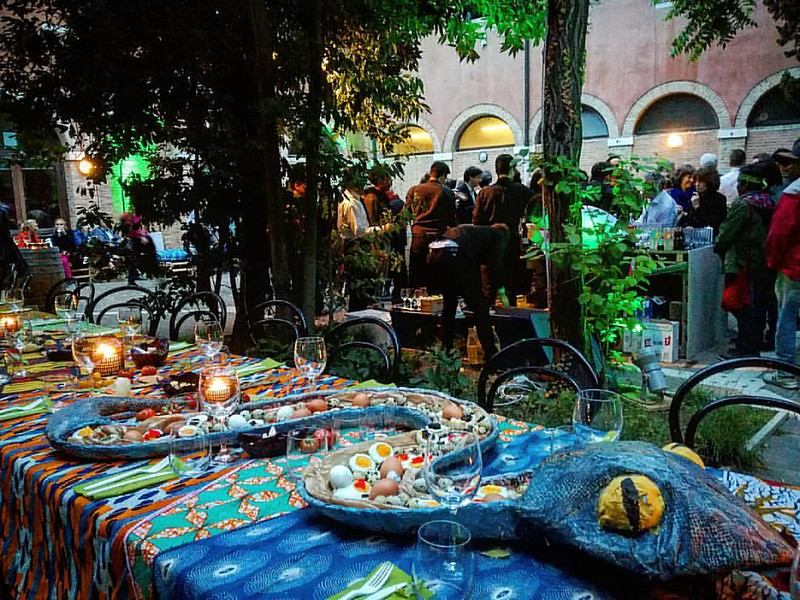 Collateral Art Event Party Biennale d'Arte Contemporanea 2017 Castello Venice Italy Spring