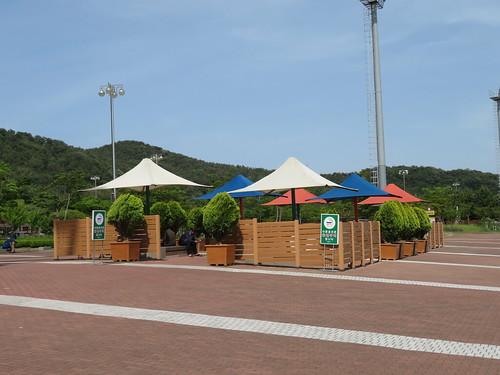 釜山慶南競馬場の喫煙所