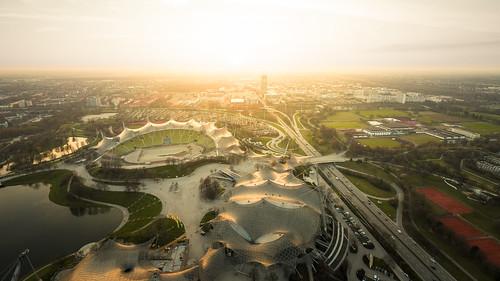 Sunset over Munich from Toni Hoffmann