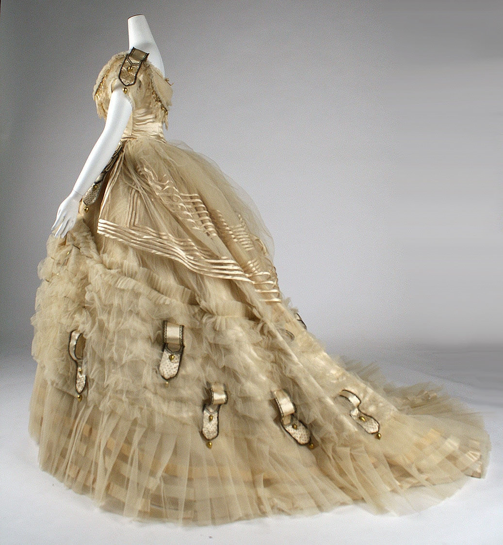 1860 Ball gown. French. Emile Pingat. Silk. metmuseum