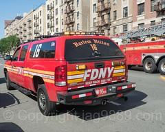 "FDNY ""Harlem Hilton"" Battalion 16 Fire Chief Vehicle, Hamilton Heights, New York City"