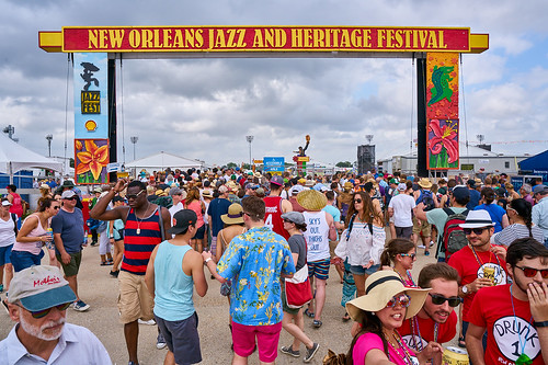 Jazz Fest sign. Saturday, April 29, 2017 - Jazz Fest Day 2. Photo by Eli Mergel.