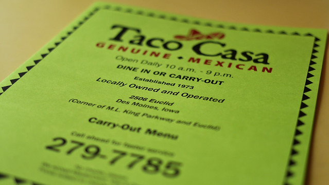 Taco Casa in Des Moines, Iowa