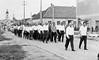 Mit der Blaskapelle marschierten wir durch den Ort zu einem gemütlichen Beisammensein aller in das Kulturhaus der Feuerwehr