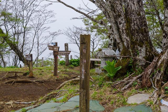 檜洞丸山頂標柱