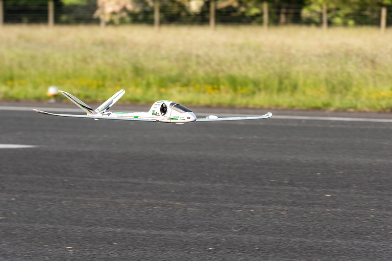 Phil with the ZV-70 ducted fan glider.