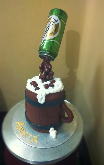 Beer Glass Cake