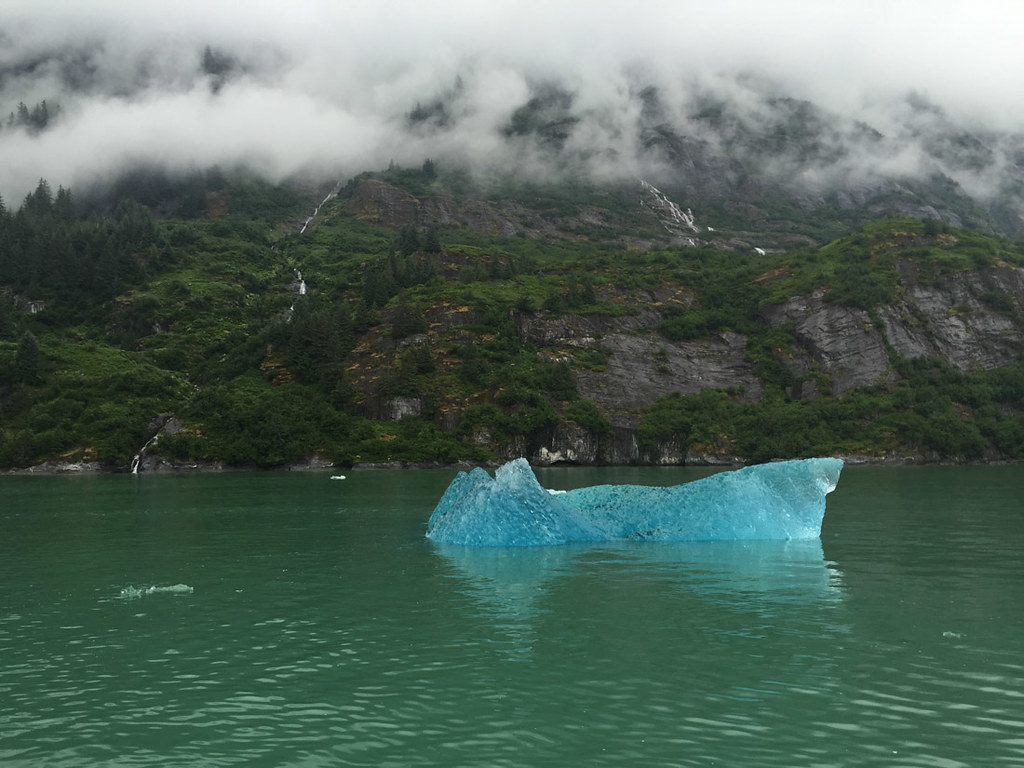 Clear blue iceberg in Tracy Arm Fjord