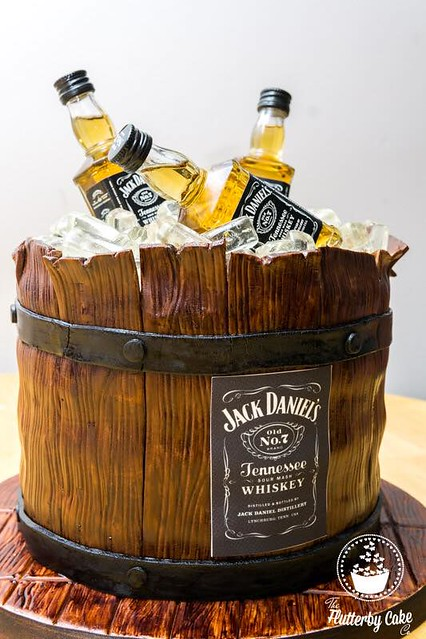 Boozy Barrel Cake by Emmy Perry of The Flutterby Cake Co.