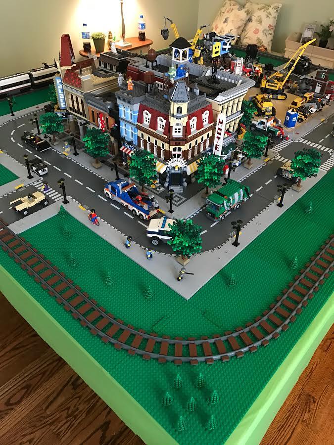 LEGO birthday party display