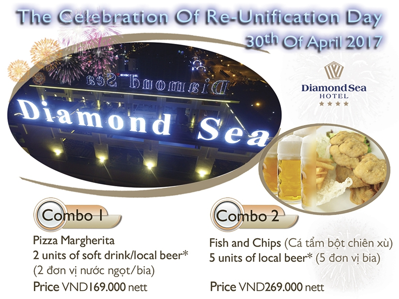 Enjoy amazing fireworks at Diamond Sea's Sky Bar - Diamod Sea Hotel