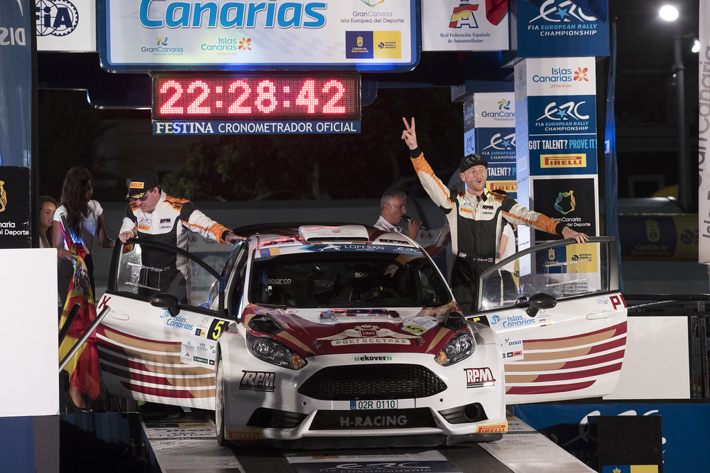 LUKYANUK Alexey (RUS), ARNAUTOV Alexey (RUS),  Ford Fiesta R5, ambiance portrait during the 2017 European Rally Championship ERC Rally Islas Canarias, El Corte Inglés,  from May 4 to 6, at Las Palmas, Spain - Photo Gregory Lenormand / DPPI