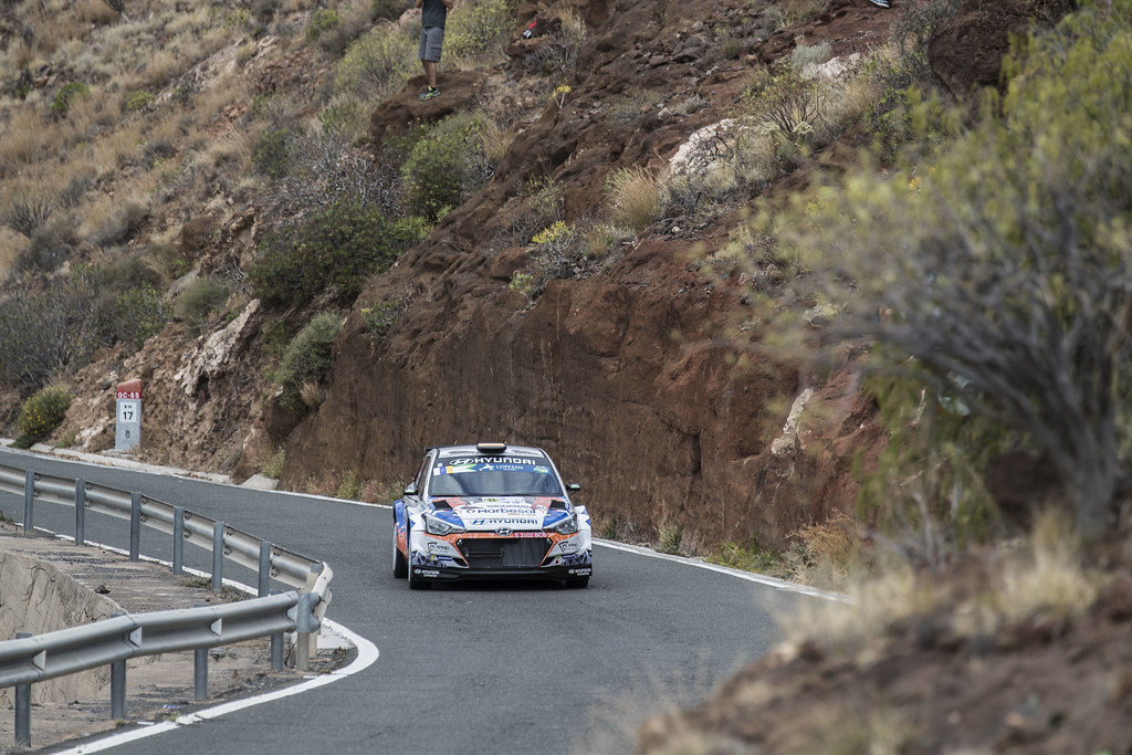 11 SURHAYEN PERNIA CALDERON Alejandro (ESP), DEL BARRIO  CORRAL (ESP), Hyundai  i20 R5, Action during the 2017 European Rally Championship ERC Rally Islas Canarias, El Corte Inglés,  from May 4 to 6, at Las Palmas, Spain - Photo Gregory Lenormand / DPPI