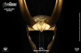 King Arts - 1/1電影道具系列 洛基 頭盔(Loki Helmet)